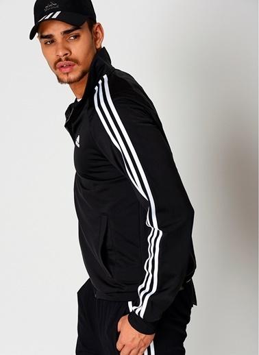 adidas Fermuarlı  Sweatshirt Siyah